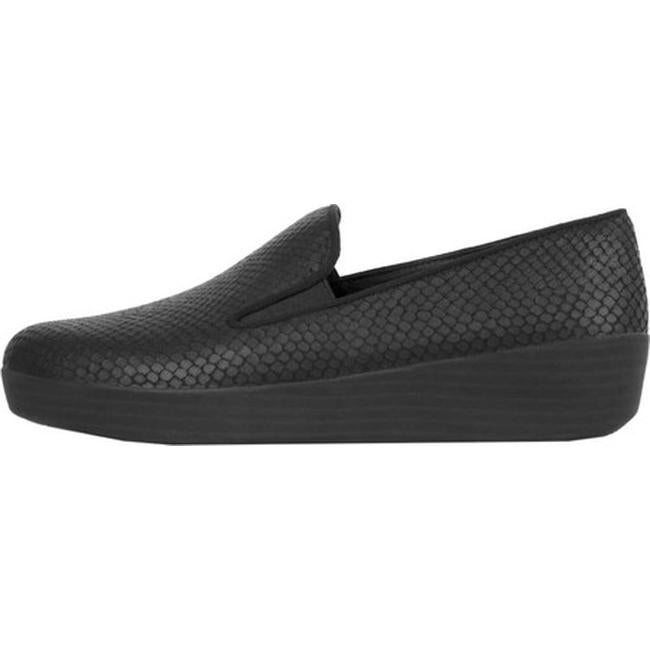 729ed51e8581 Shop FitFlop Women s Superskate Loafer Black Goat Leather - Free ...