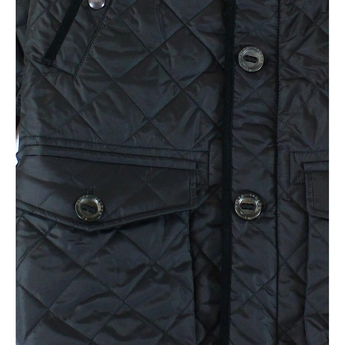 Shop Polo Ralph Lauren New Black Mens Size Large L Diamond Quilted