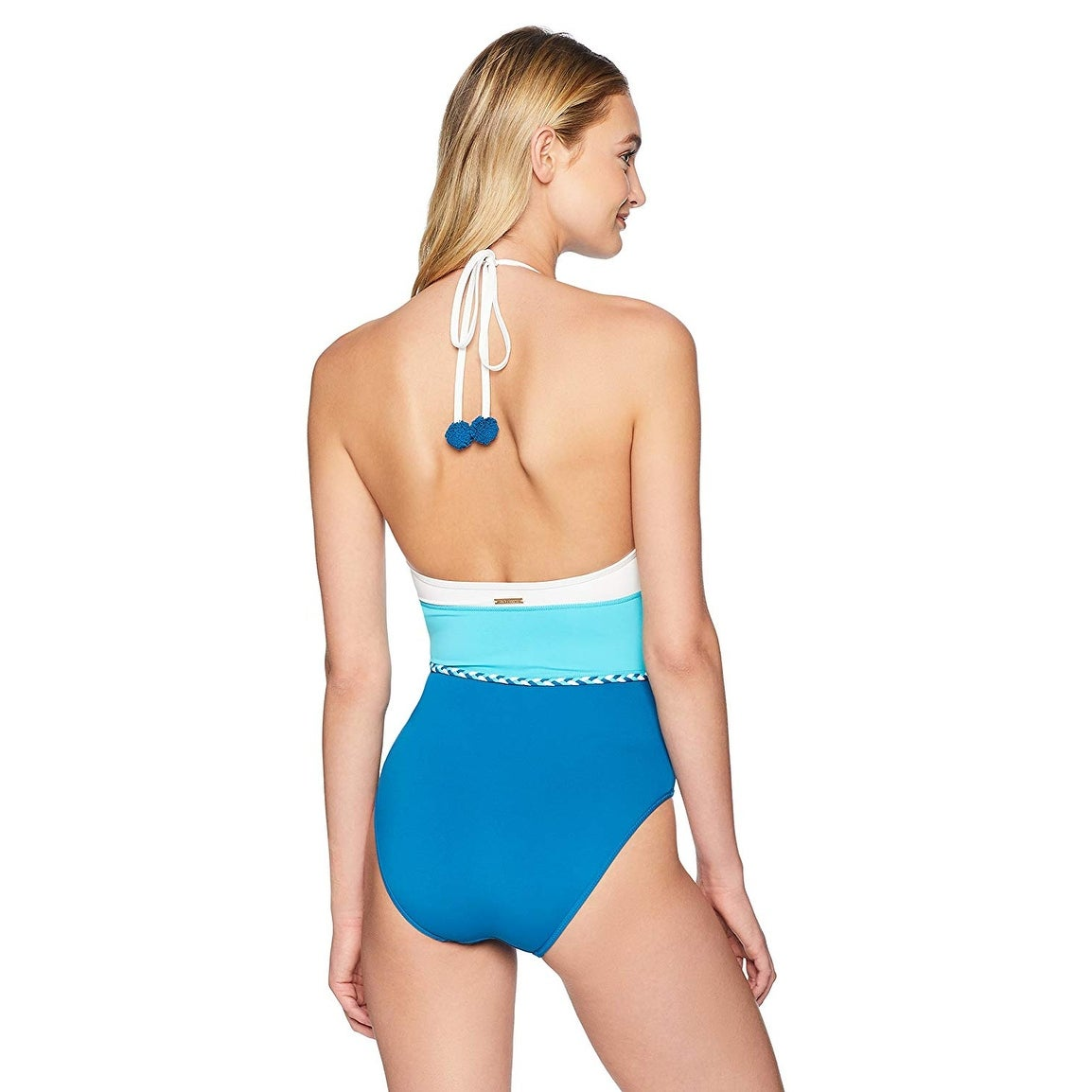 76d49c54e2 Shop Vince Camuto Women One-Piece Halter Colorblock Swimsuit V37548 -  Marine - 4 - Free Shipping Today - Overstock - 28061068