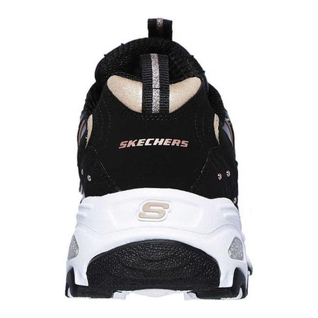 6fc22227e0994 Shop Skechers Women s D Lites Glamour Feels Sneaker Black Rose Gold - Free  Shipping Today - Overstock - 25588744