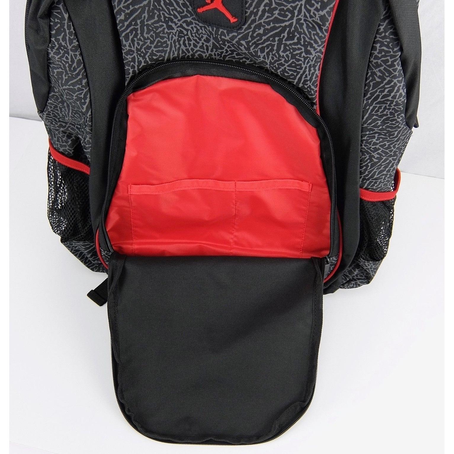 94f81da07a Shop Nike Jordan Elephant 2-Strap School Backpack - Black Red ...