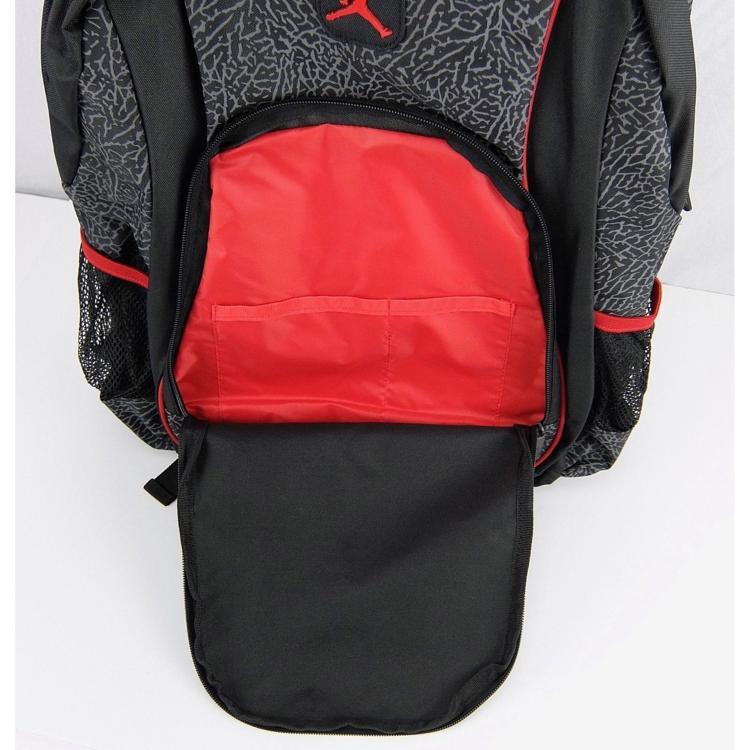 44cca016322a Shop nike jordan elephant strap school backpack black red a free shipping  today overstock jpg 1533x1533