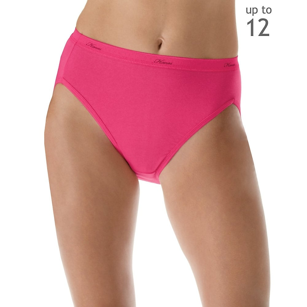 b7ad0583dfd Shop Hanes Women s Plus Cotton Hi-Cut Panties 5-Pack - Size - 11 - Color -  Assorted - Free Shipping On Orders Over  45 - Overstock - 13876302