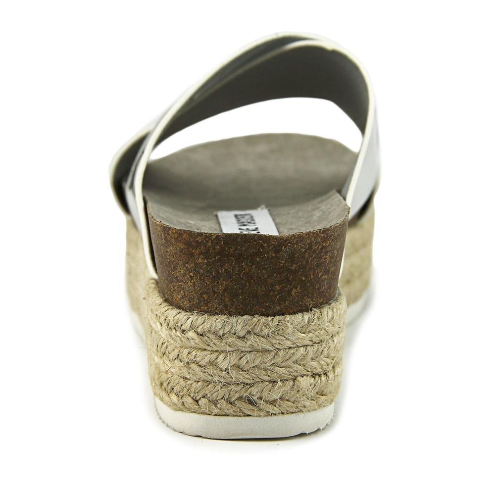 78be9bdc9d4 Steve Madden Hassie Women Open Toe Synthetic Silver Platform Sandal