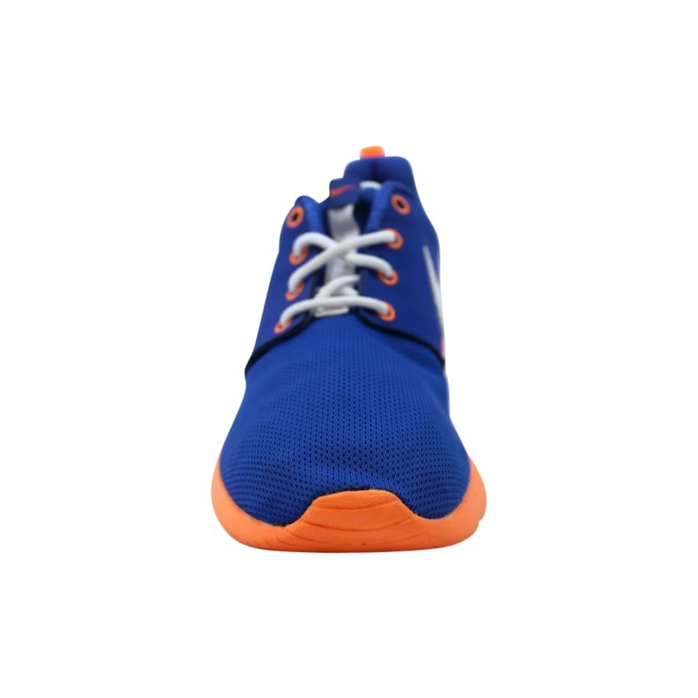 40a22a84d2fe Shop Nike Roshe One GS Game Royal White-Total Orange-Black 599728-415  Grade-School - Free Shipping Today - Overstock - 27993540