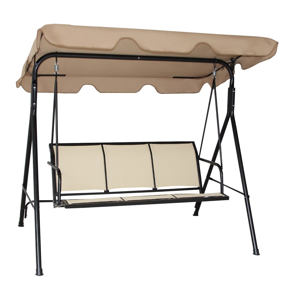 person seater canopy shelter patio marquee garden beige dp gazebo mesh chair swing outsunny co side walls amazon with bed hammock bench uk tent