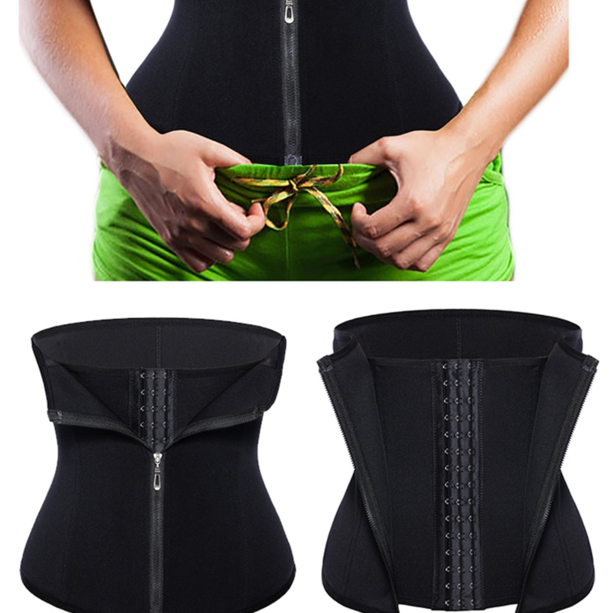 65904ef657995 Shop Waist Cincher Tummy Fat Burning Fitness Body Shaper Corset - black -  Free Shipping On Orders Over  45 - Overstock - 22578663