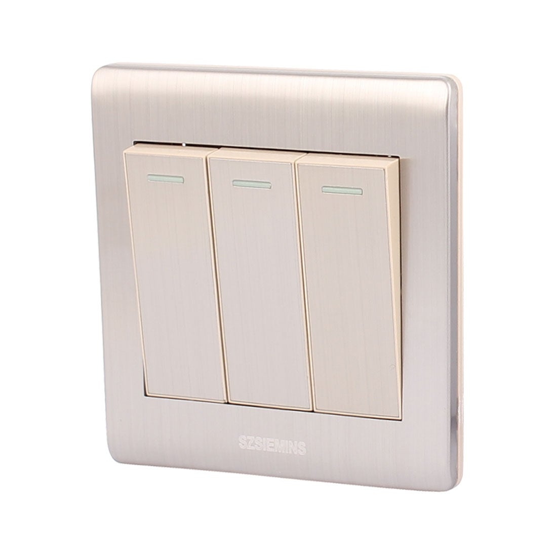 Shop Ac 250v 10a 3 Gang 2 Way On Off Stainless Steel Modern Design Light Switch Plate Wall Ships To Canada 18262801
