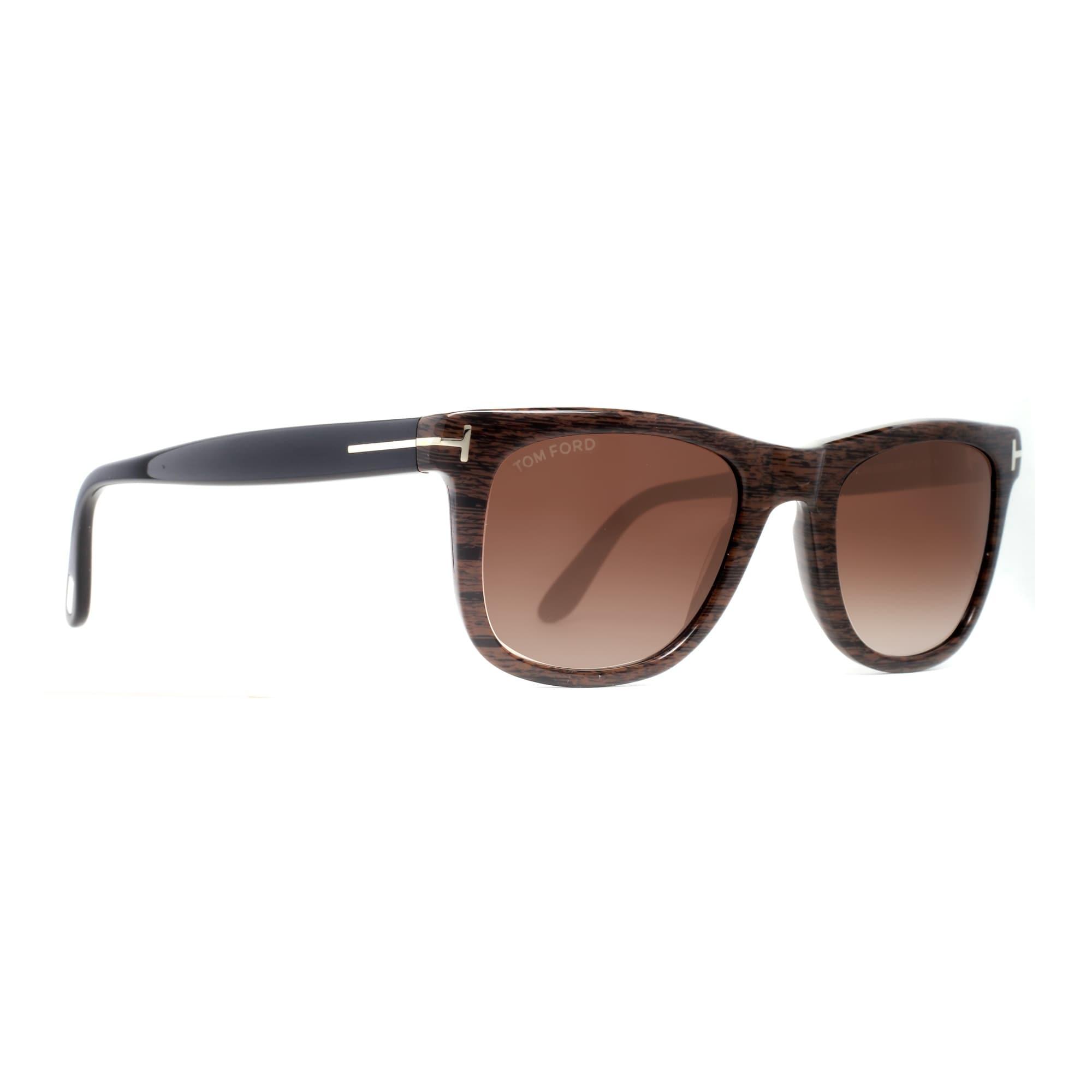 438aaf1bdc0 Shop Tom Ford Leo TF 336 05K Brown Wood Design Plastic Men s Black  Sunglasses - brown black with wood des - Free Shipping Today - Overstock -  14050958
