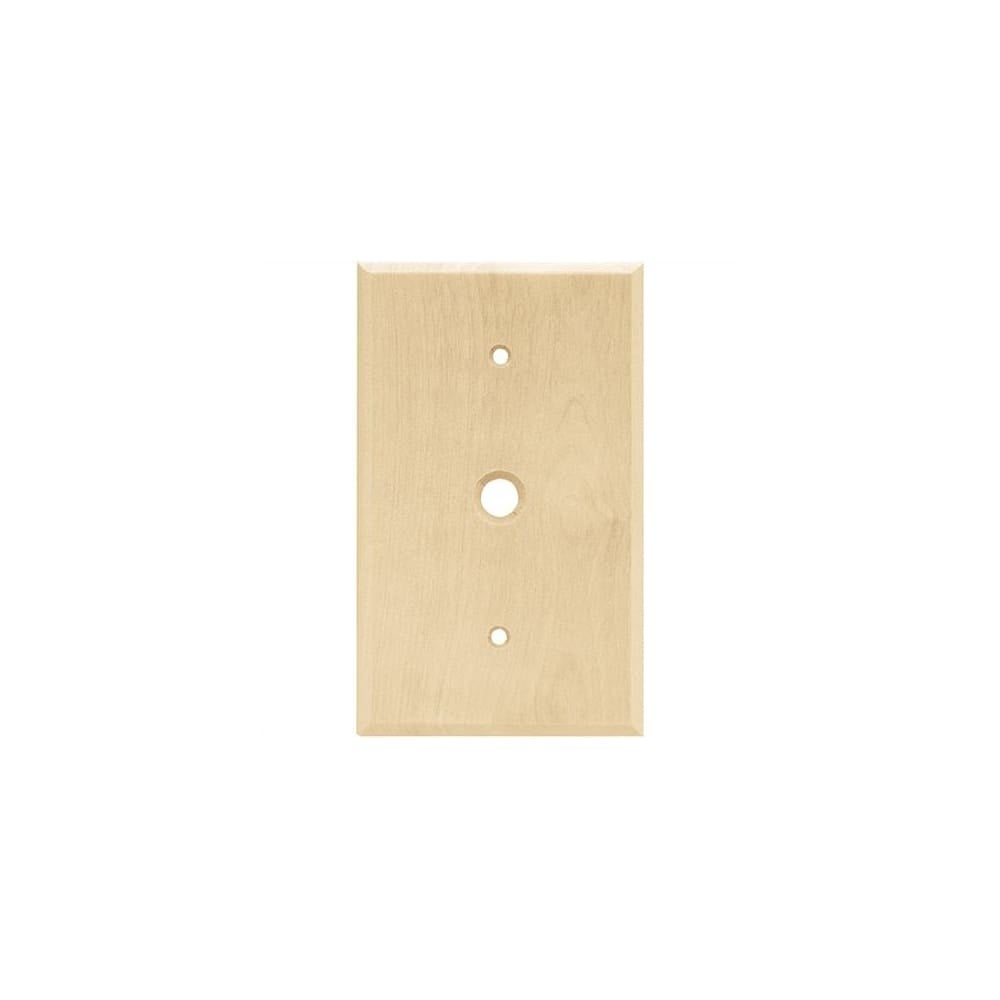 Shop Franklin Brass W10401-C Wood Square Single Cable Wall Plate ...