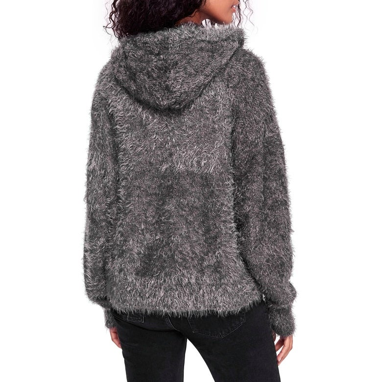71ff34b11a95 Shop Free People Gray Women Small S Light As A Feather Hooded Sweater - Free  Shipping Today - Overstock - 28012805
