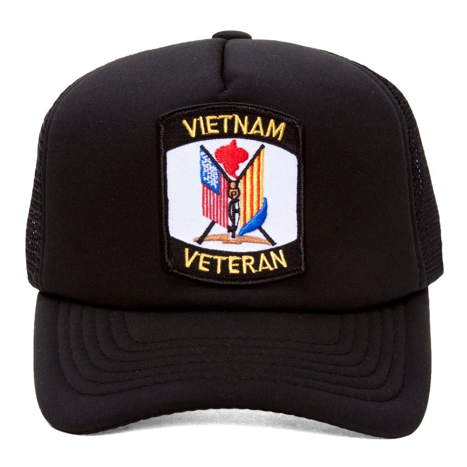 31547462de0 Shop Military Patch Adjustable Trucker Hats - Vietnam Veteran Flags - Free  Shipping On Orders Over  45 - Overstock.com - 17227148