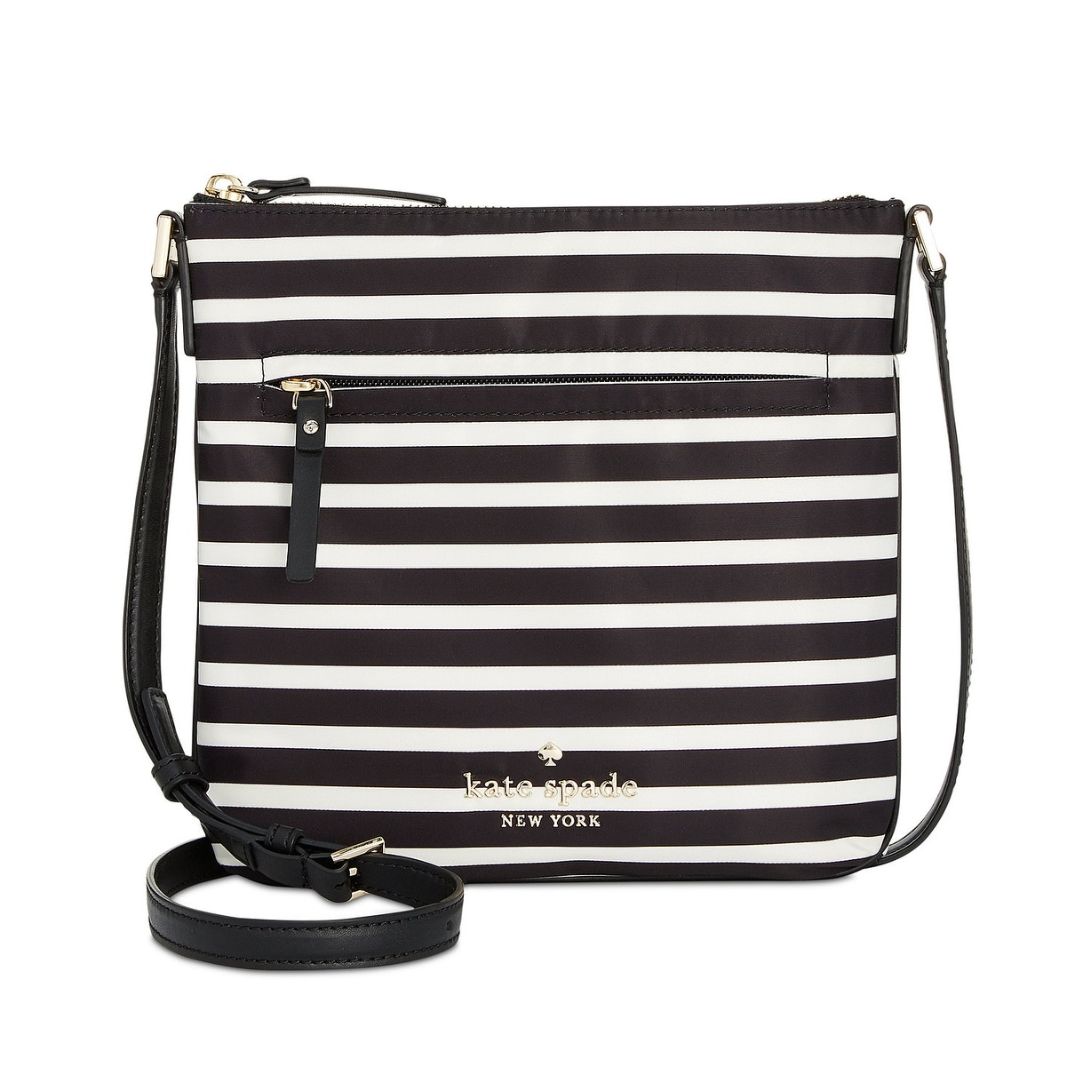 84c631ef640 Kate Spade Watson Lane Hester Striped Small Crossbody Bag Black Clotted  Cream - One size