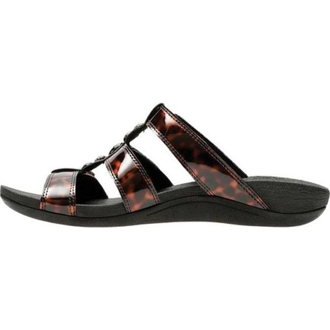 8bcae7f4c016 Shop Clarks Women s Pical Cusick Strappy Slide Brown Tortoise Synthetic -  Free Shipping Today - Overstock - 20702517