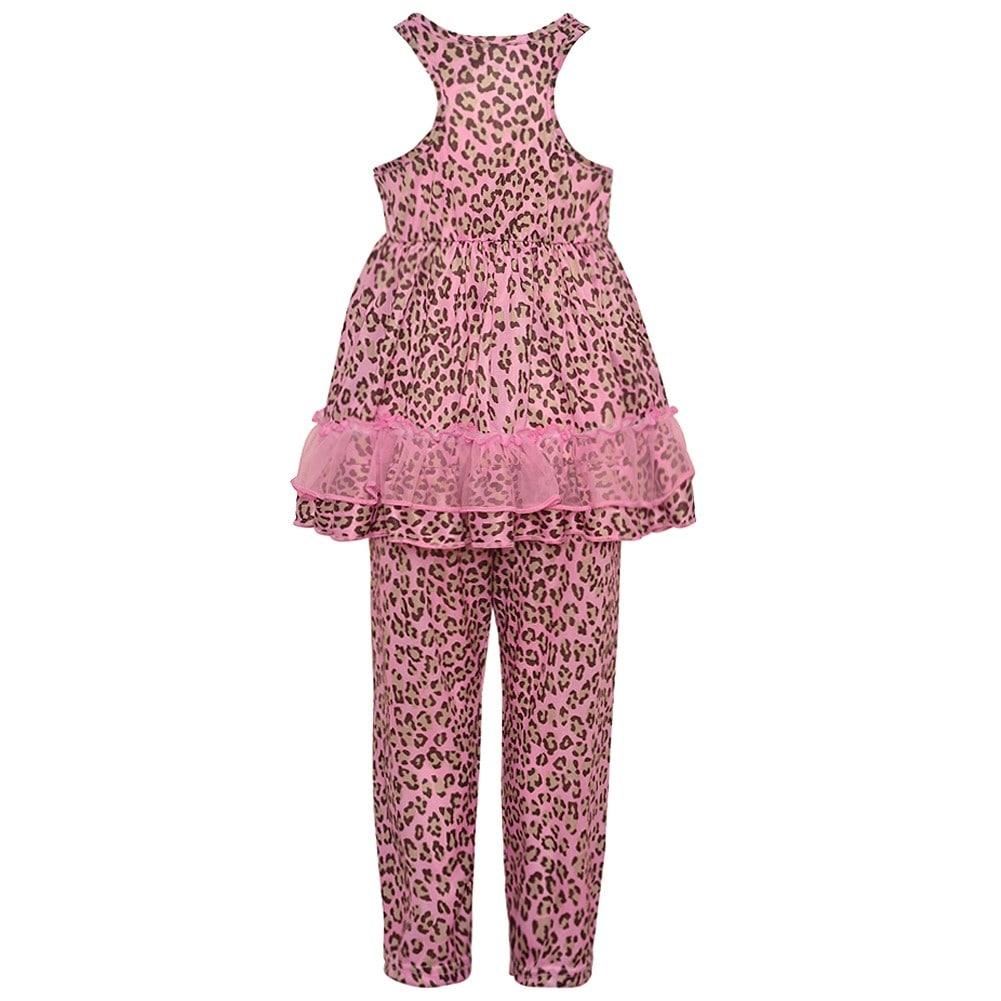 b3119efcadd5 Shop Laura Dare Little Girls Pink Leopard Print Bow Ruffle 2 Pc ...