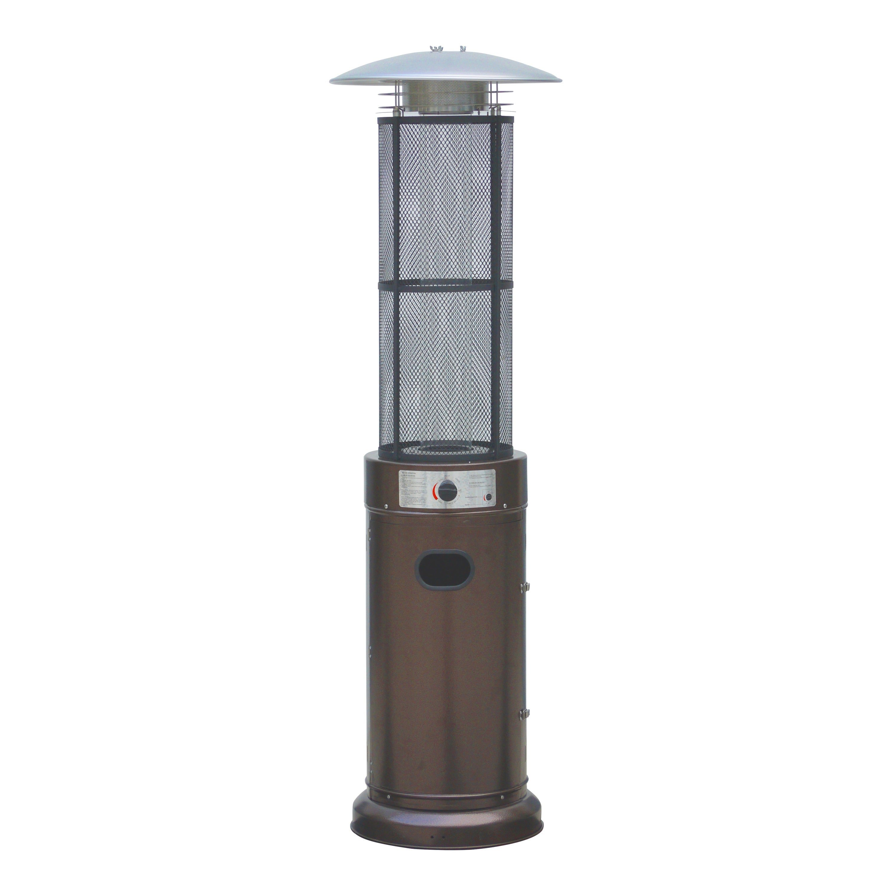 Belleze Circle Round Pyramid Outdoor Home mercial Glass Tube