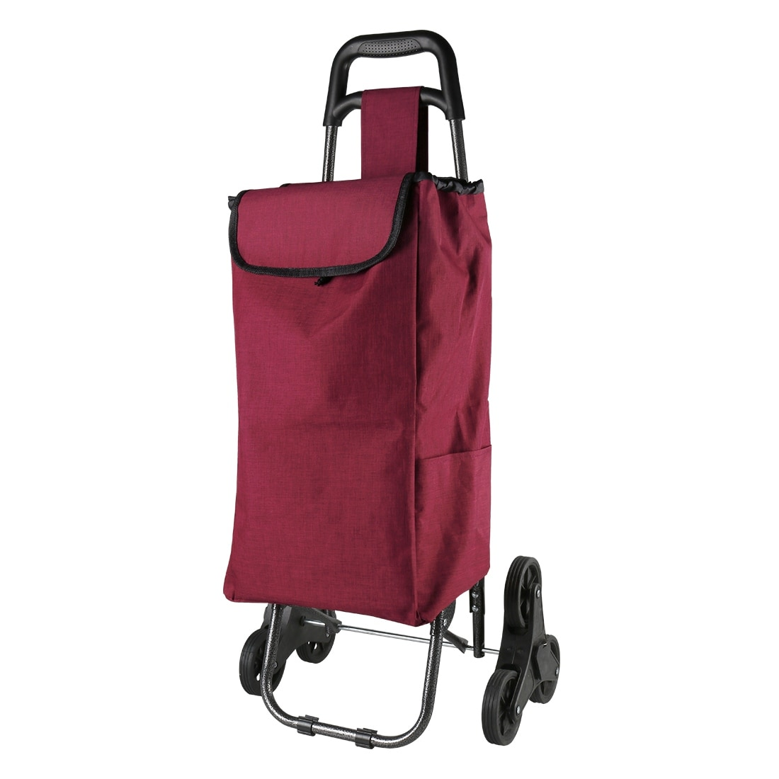 14c69fcc5d7d Folding Shopping Trolley Stair Climbing Cart with Bag for Grocery Laundry  Utility Cart Pink