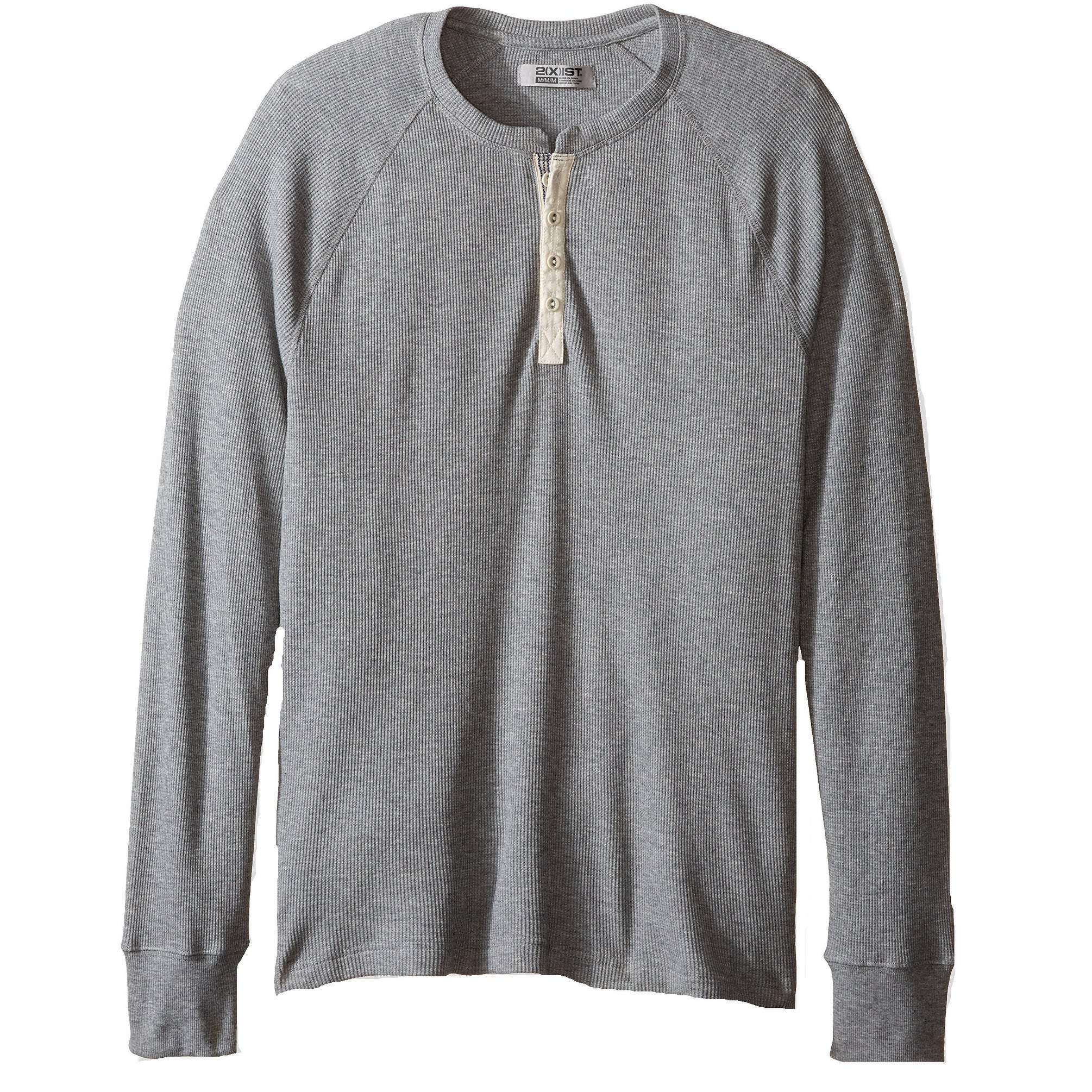 cec611ec Shop 2xist NEW Gray Mens Size Medium M Waffle-Knit Thermal Henley Shirt -  Free Shipping On Orders Over $45 - Overstock - 19549726