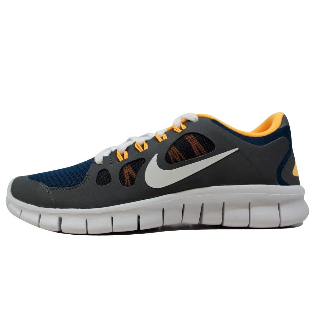 Kixrx: Nike Free 5.0 Brave BlueWhite Dark Grey Laser Orange