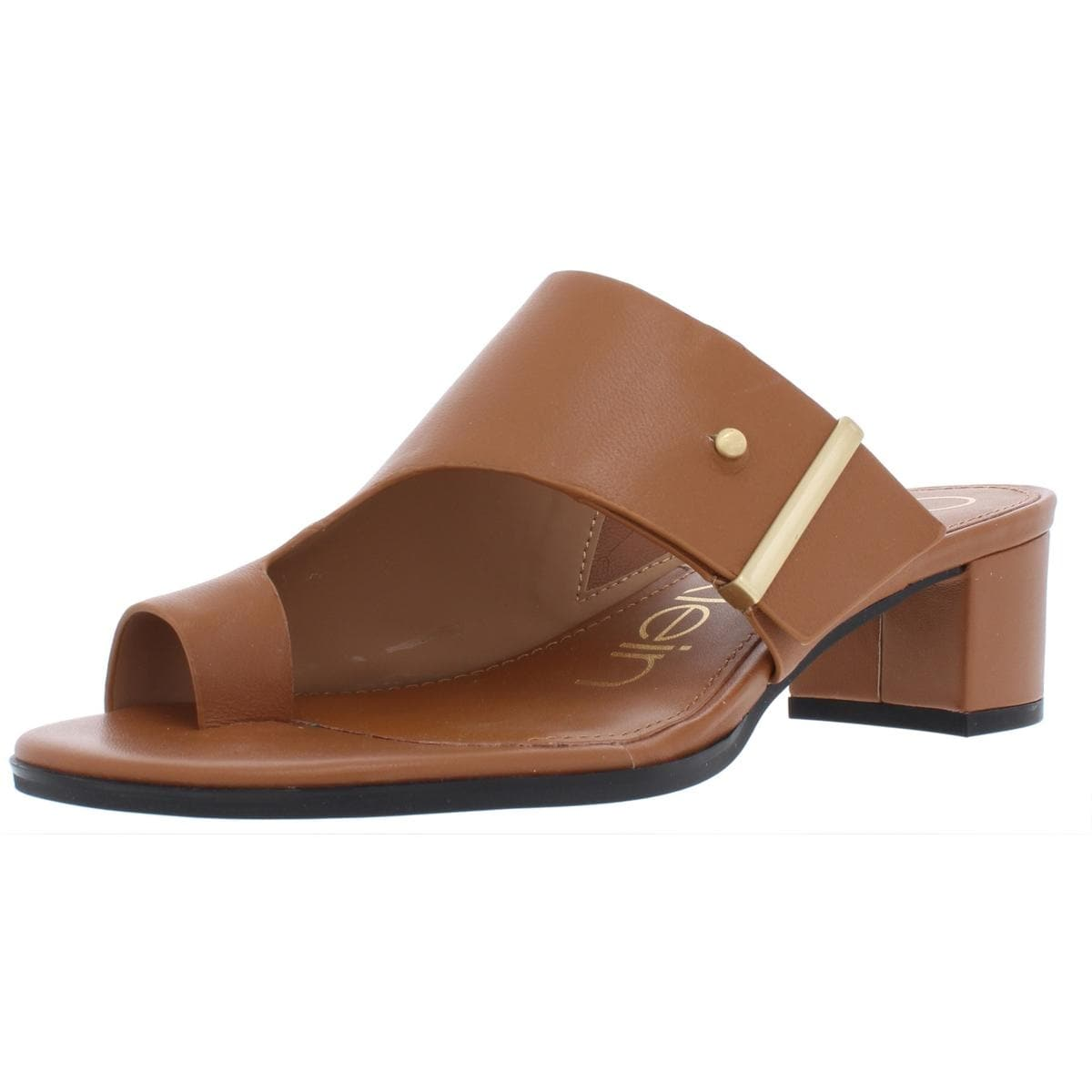 2f958d5750 Shop Calvin Klein Womens Daria Dress Sandals Leather Block Heel - Free  Shipping Today - Overstock - 27588952