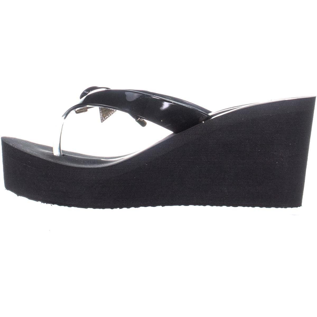 87781ce13 Shop Guess Syona Slip On Platform Wedge Sandals