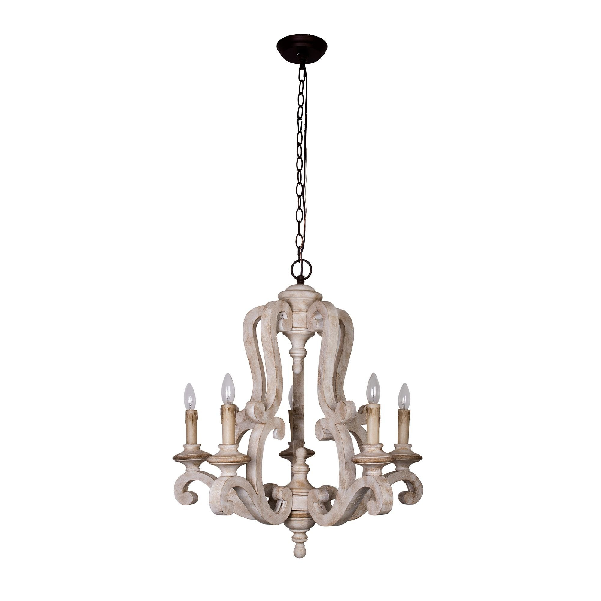 Rustic 5 light distressed antique white wood chandelier free rustic 5 light distressed antique white wood chandelier free shipping today overstock 26706550 aloadofball Gallery