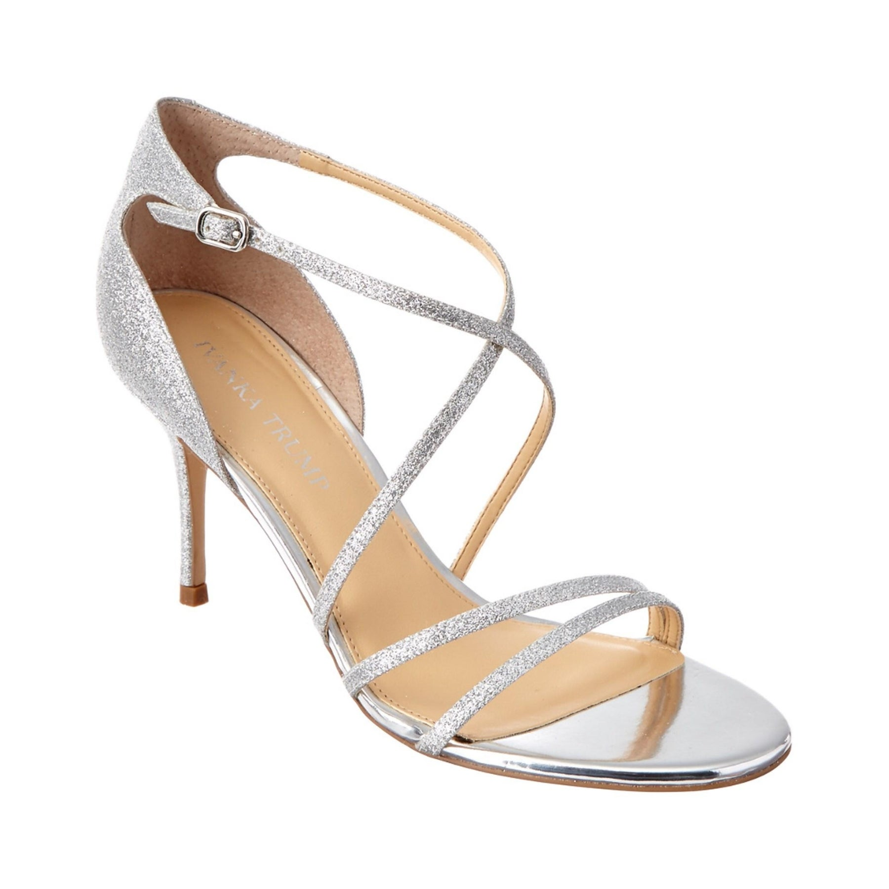 Ivanka Trump Womens Garis Leather Open Toe Ankle Strap D orsay Pumps