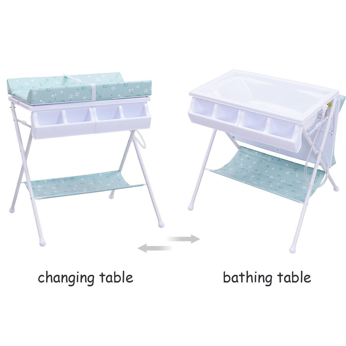 Shop Costway Infant Baby Bath Changing Table Diaper Station Nursery  Organizer Storage W Tube   Free Shipping Today   Overstock.com   18962713