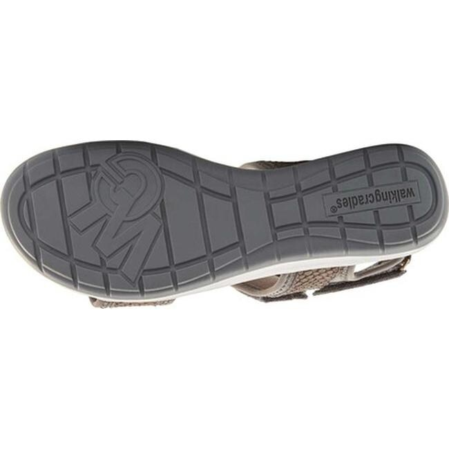 06ada4b8b597 Shop Walking Cradles Women s Shea Walking Sandal Gray Snake Print Lycra  Leather - Free Shipping Today - Overstock.com - 27348091