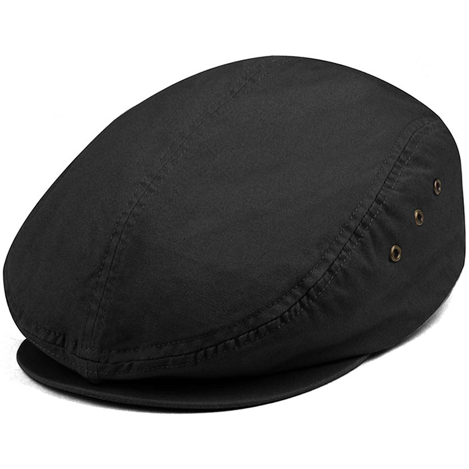 56118c59cf9ba Shop MG Men s Plaid Ivy Washed Canvas Newsboy Cap Hat - Free Shipping On  Orders Over  45 - Overstock.com - 20669231