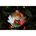 Silvestri Lisa Frost Praying Angel Ball Ornament