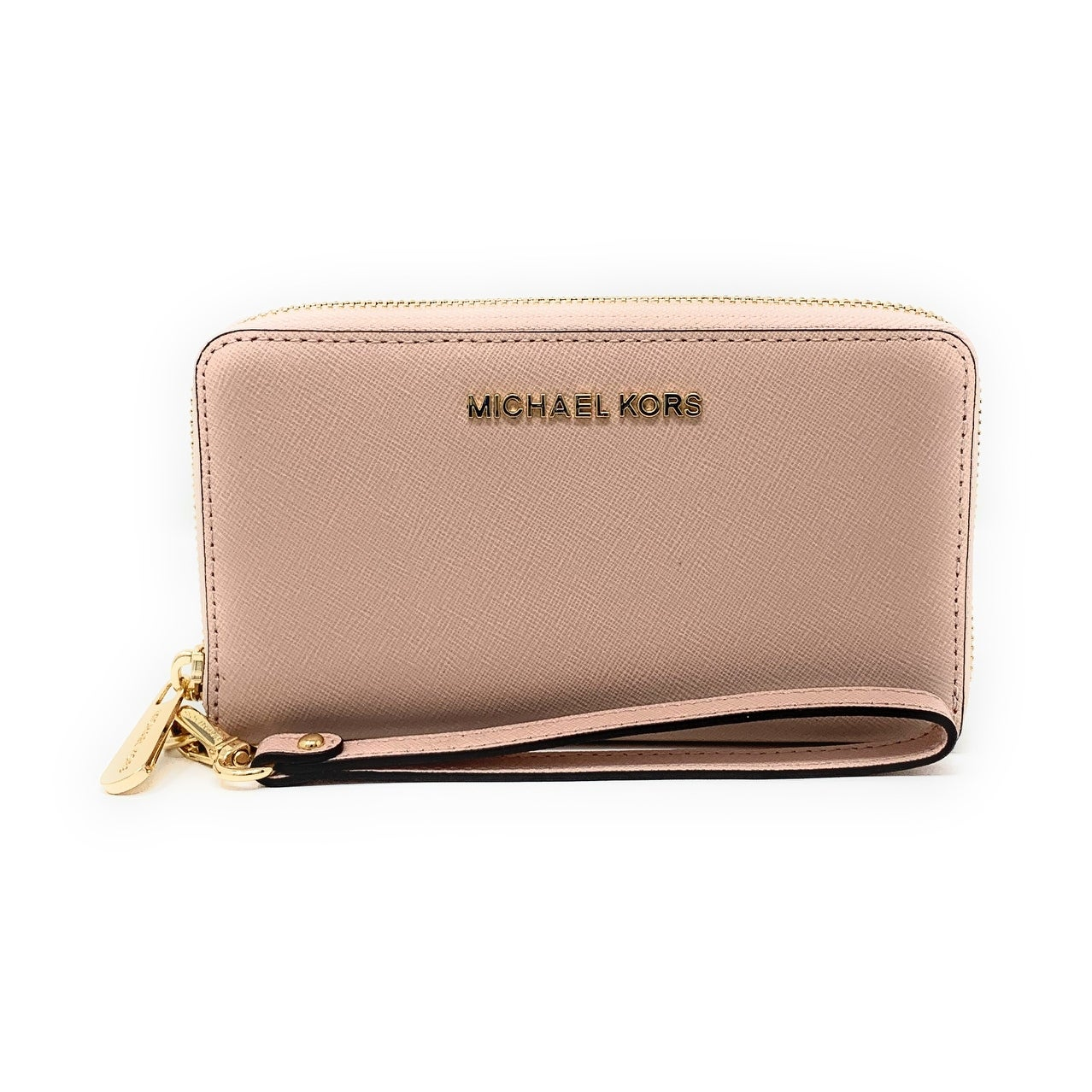 91b8585711cf Shop Michael Kors Jet Set Travel Large Multifunction Smartphone Saffiano  Leather Wristlet Case - Free Shipping Today - Overstock - 25576160