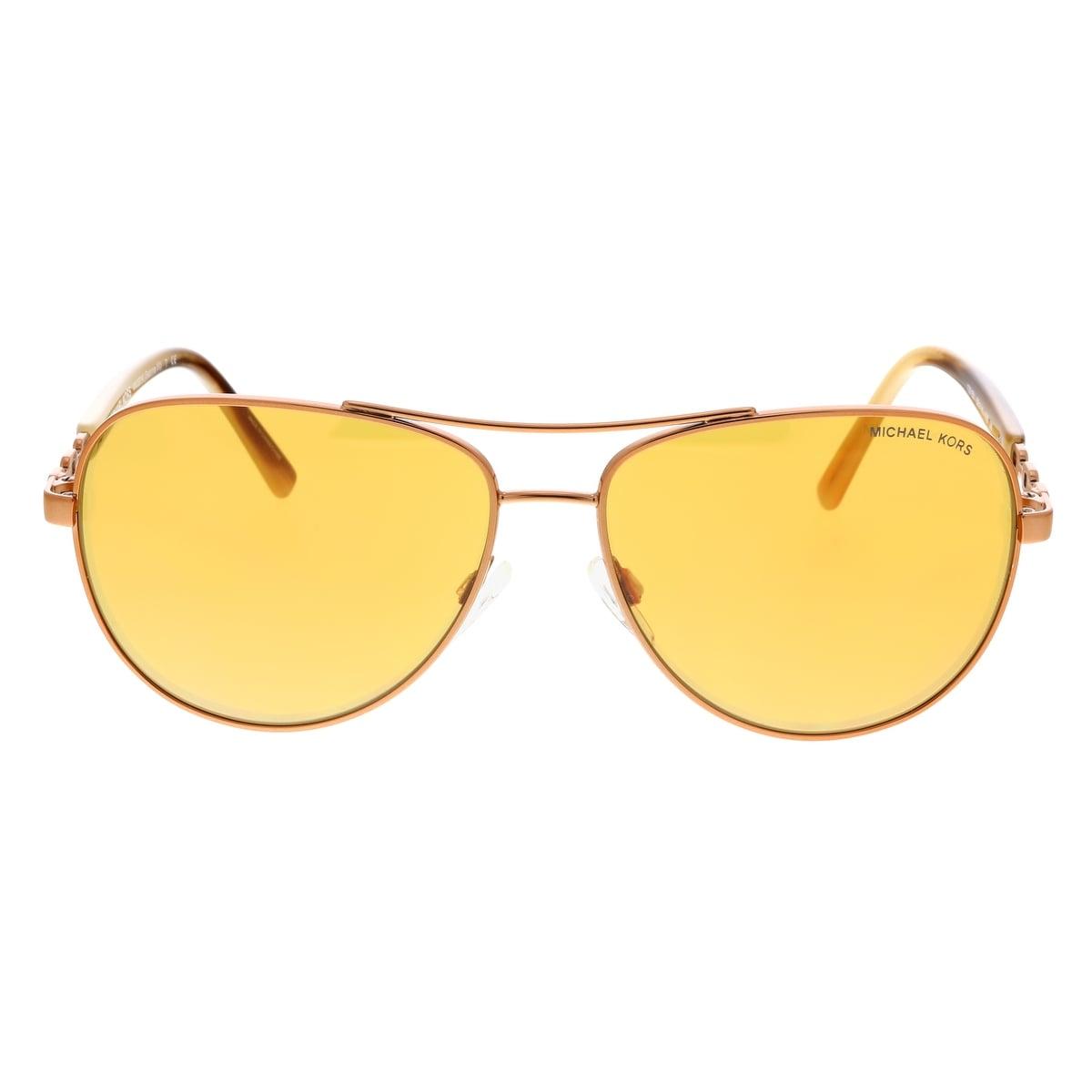 13f8b1c54e27 Shop Michael Kors MK5014 10915N Sabina III Bronze Aviator Sunglasses -  59-14-135 - Free Shipping Today - Overstock - 28249092