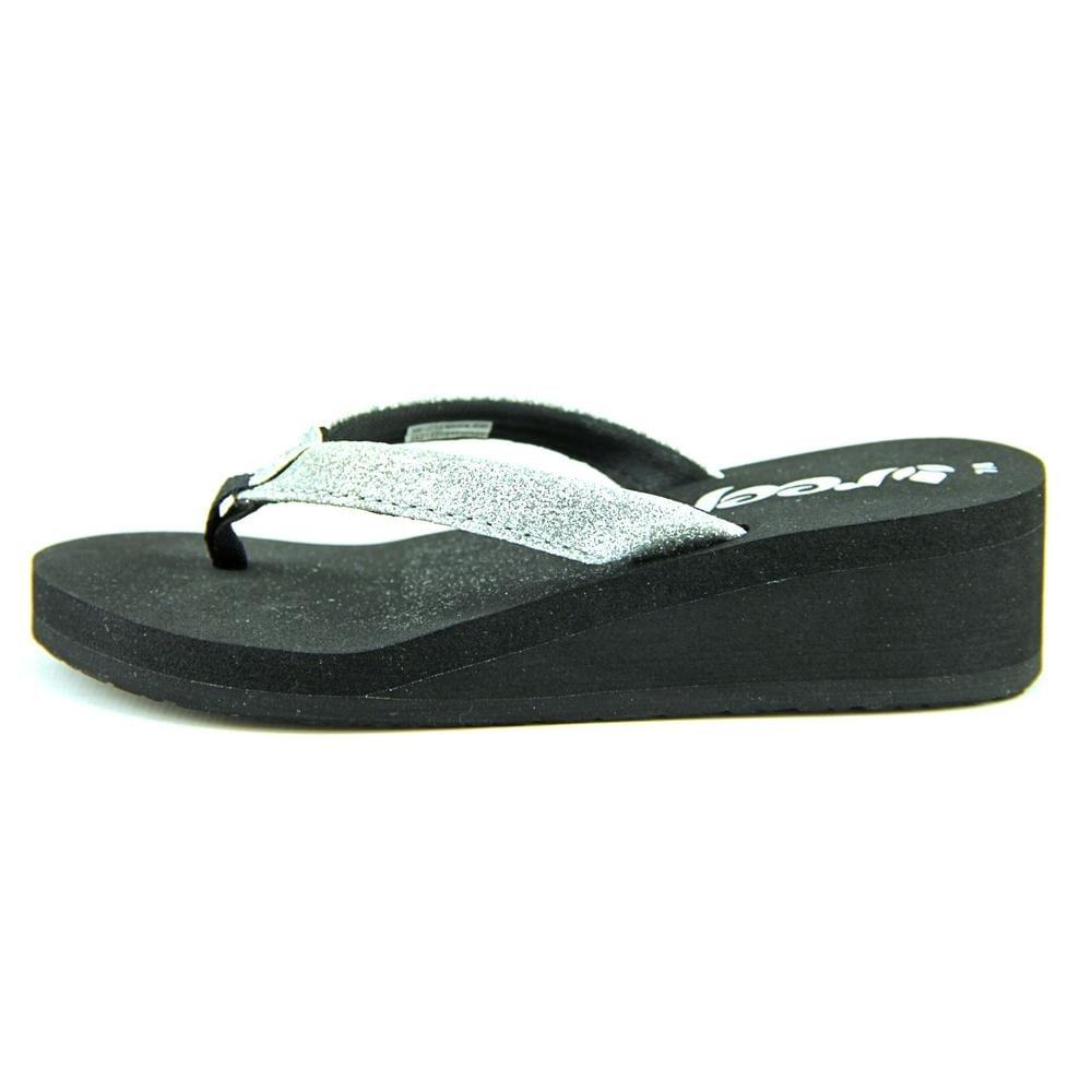 8156e68f824e Shop Reef Little Krystal Star Toddler Open Toe Synthetic Black Thong Sandal  - Free Shipping On Orders Over  45 - Overstock.com - 13938399