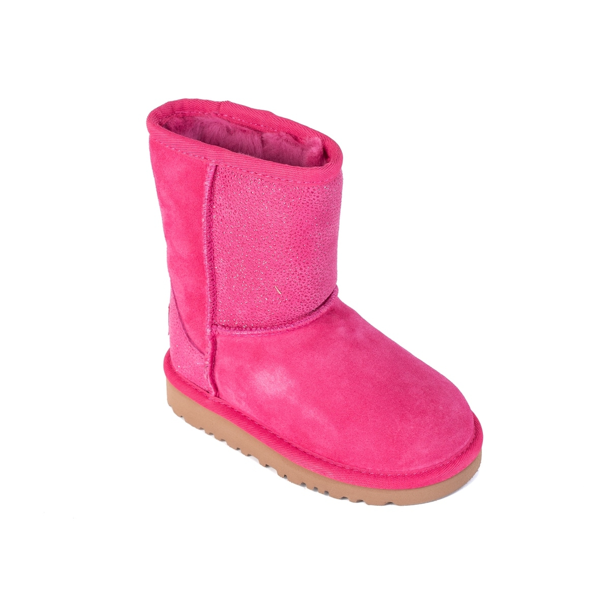 4e2485168b6 UGG Toddler Girls Classic Short Serein Pink Glitter Boots Size US9~RTL$100