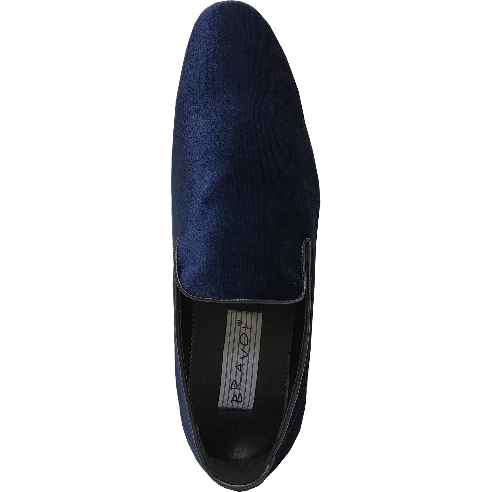 cf9b88175b0 Shop BRAVO Men Dress Shoe KLEIN-7 Loafer Shoe Blue Velvet with Leather  Lining - Free Shipping Today - Overstock - 18076652