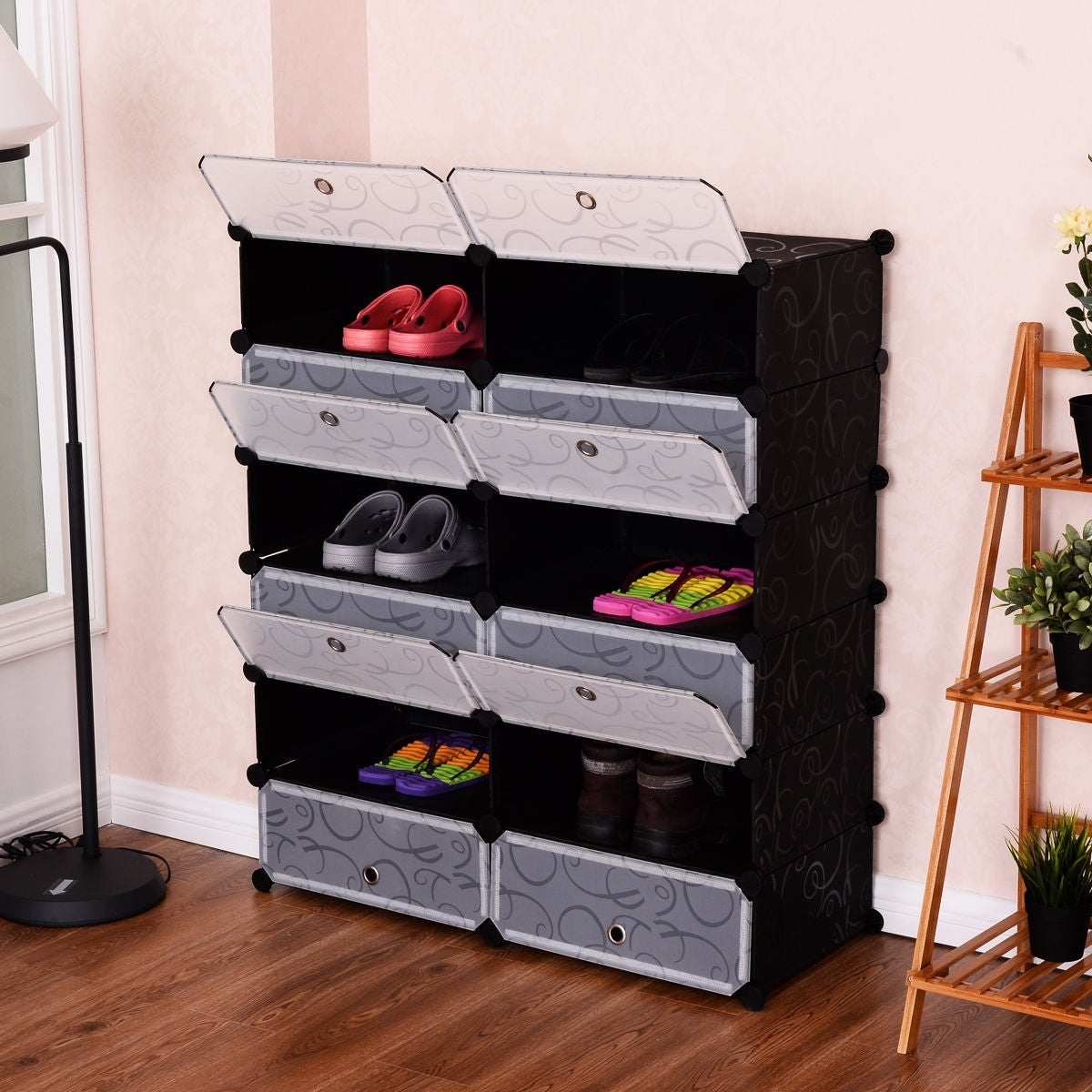 Shop Costway 12 Cubic Portable Shoe Rack Shelf Cabinet Storage Closet  Organizer Home Furni   As Pic   On Sale   Free Shipping Today    Overstock.com   ...