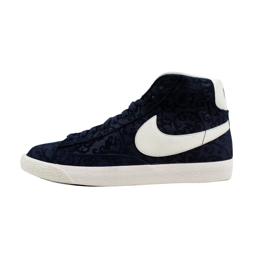 2c8904606f8 Nike Men s Blazer Mid Premium Vintage Obsidian Sail-White-Team Orange  638261-402