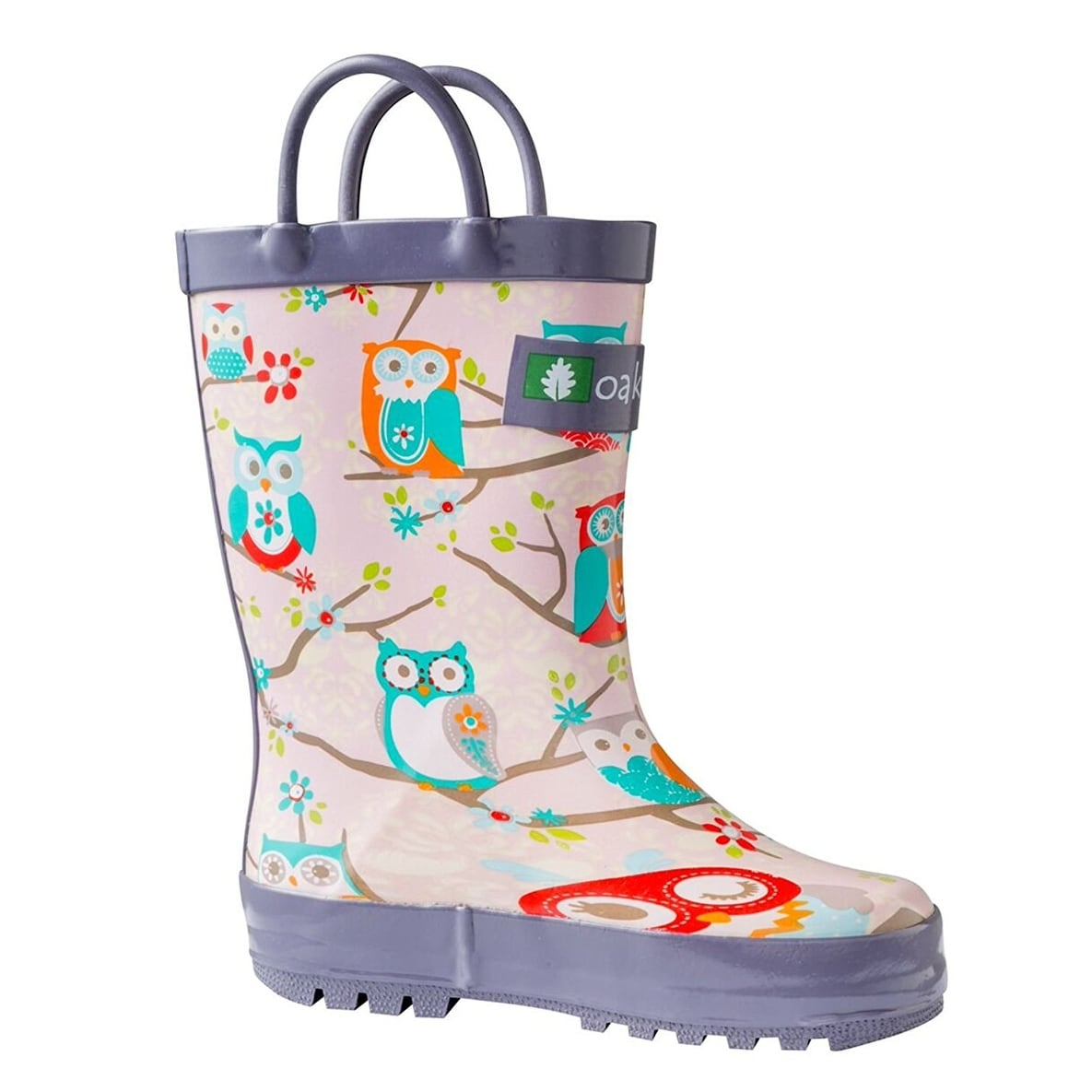 a3acb963b42a9 Oakiwear Kids Waterproof Rubber Rain Boots with Easy-On Handles - 5t us  toddler