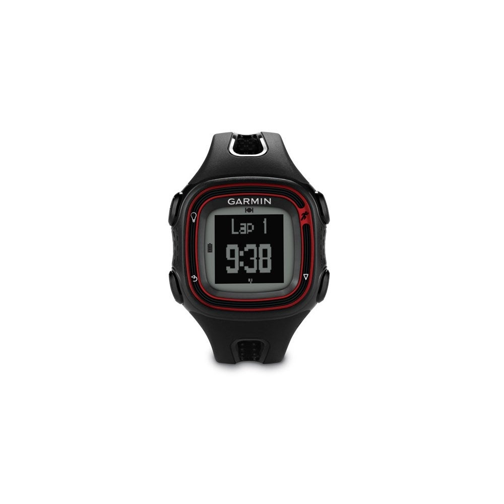 Garmin Forerunner 10 >> Garmin Forerunner 10 Black Red Gps Enabled Sports Watch W Identifies Personal Records