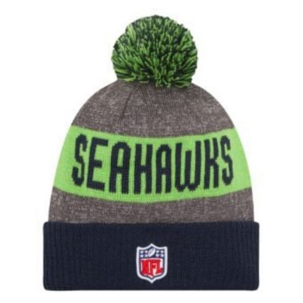 1096a3d42e7 Shop New Era Seattle SeaHawks NFL Knit Hat Cap Winter Beanie Sideline  11289032 - Free Shipping On Orders Over  45 - Overstock - 18609199