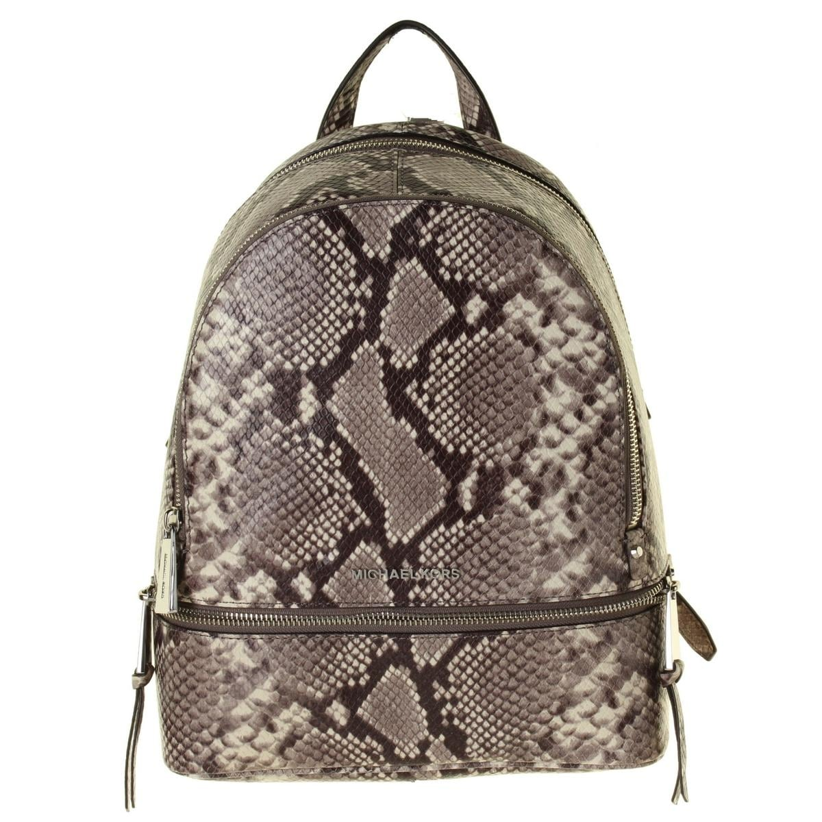 cd6a694d8009 ... get shop michael michael kors womens rhea backpack leather snake print  free shipping today overstock 19544249