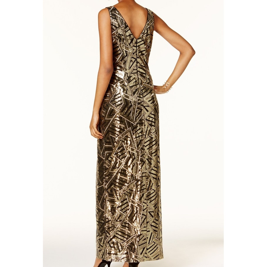 f042ed97 Shop Vince Camuto Women's Geo Sequin Surplice Gown Dress - Free Shipping  Today - Overstock - 27060677