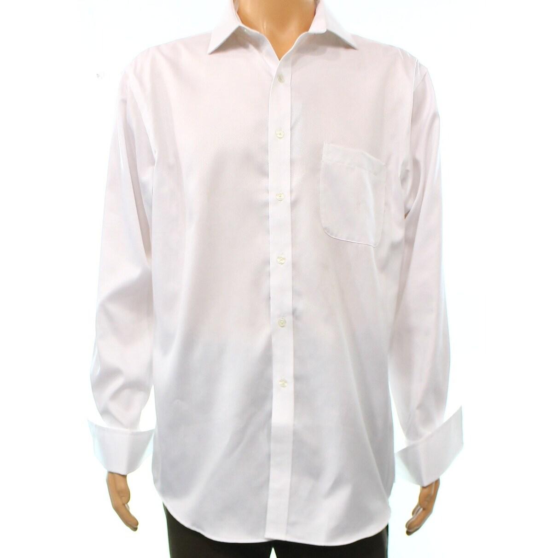 Shop Tasso Elba New White Mens Size Xl Micro Diamond Texture Dress