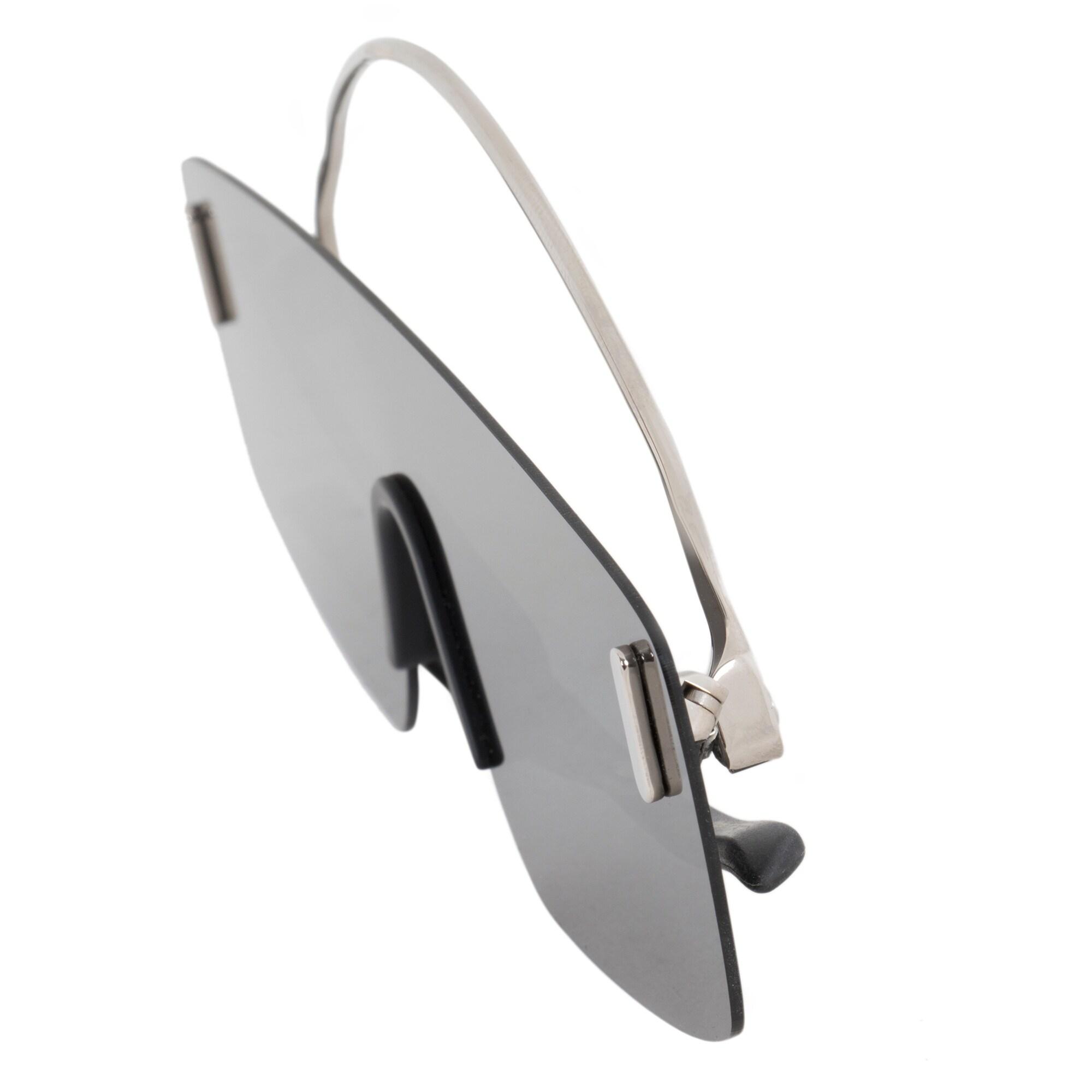 df01cc25c3e Shop Porsche Design Design P8482 B 15 Rimless Panorama Sunglasses for Men
