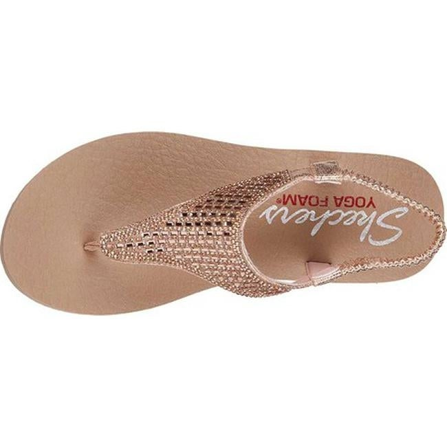 9944a42bb60a Shop Skechers Women s Meditation Rock Crown Thong Sandal Rose Gold - On  Sale - Free Shipping On Orders Over  45 - Overstock - 19114168