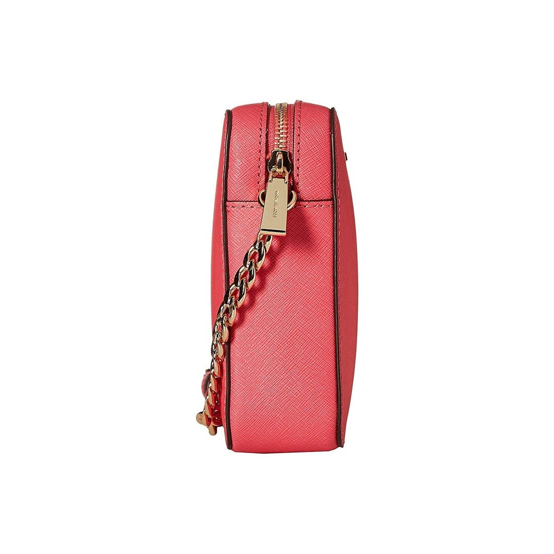 722a92d7f8d120 Shop MICHAEL Michael Kors Jet Set East West Crossgrain Leather Crossbody Bag  Rose Pink - Free Shipping Today - Overstock - 28040646