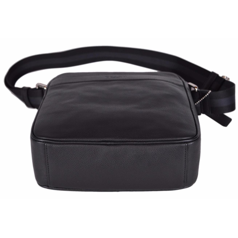 Shop Coach Men s F54782 Black Leather Smith Flight Crossbody Day Bag - 10