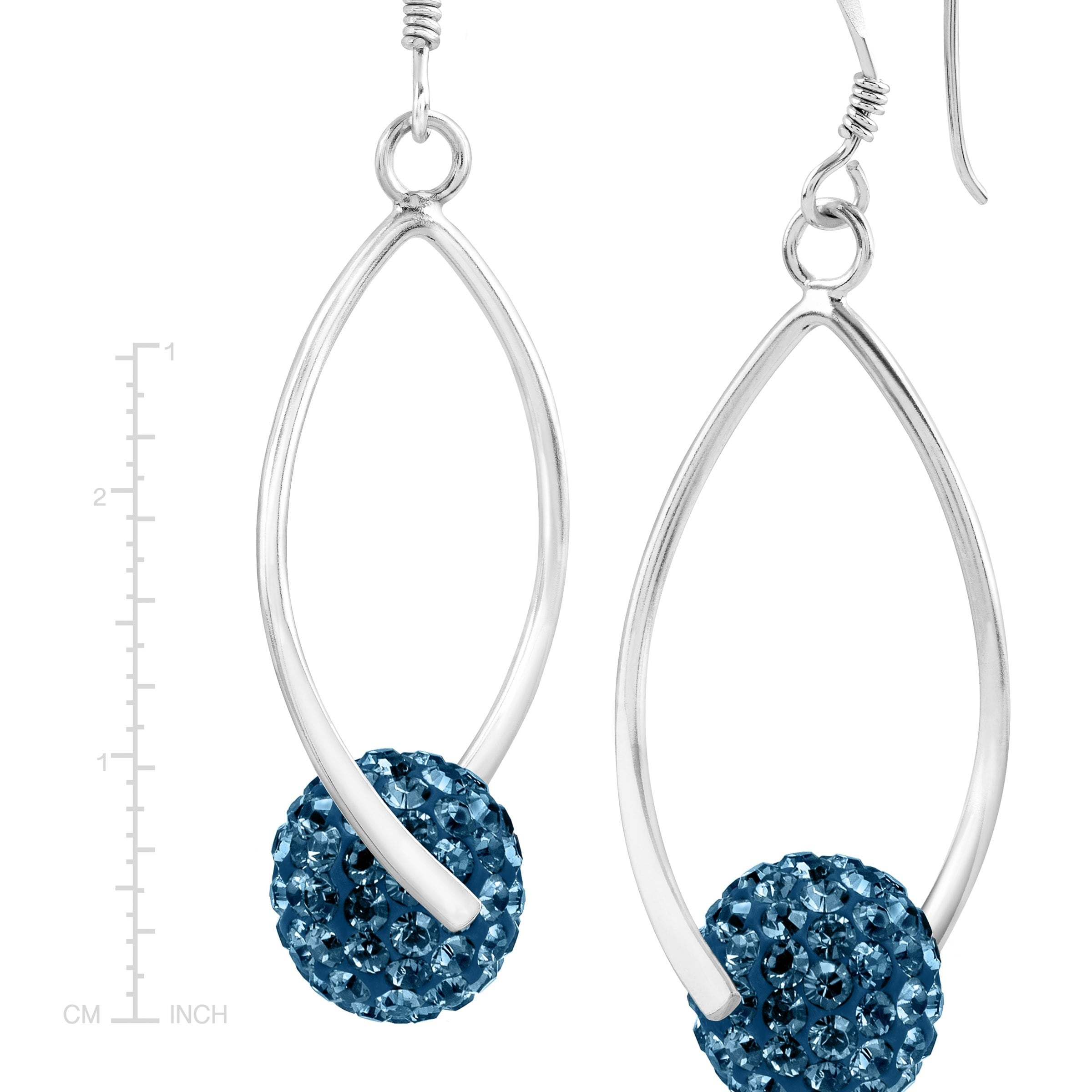 2f2b403a7c8e9 Crystaluxe Twisted Ball Drop Earrings with Swarovski Crystals in Sterling  Silver
