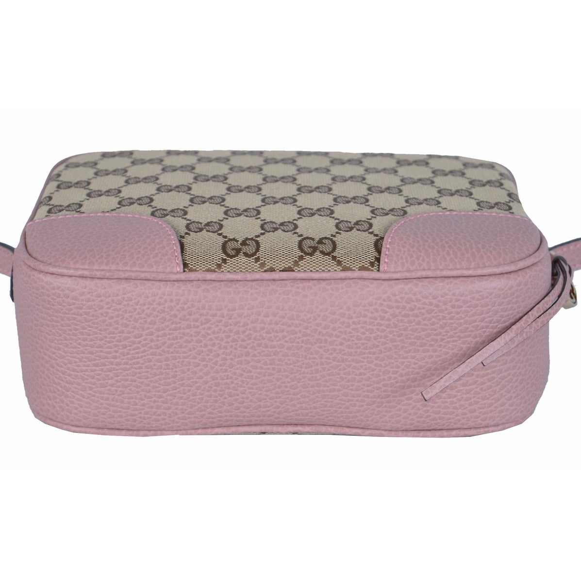 fe431872346 Shop Gucci 449413 Beige Pink Canvas Leather GG Guccissima Bree Crossbody  Purse - Beige Pink - 8.5